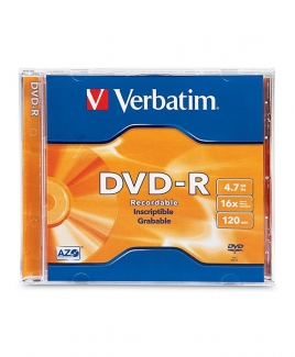 Verbatim DVD-R (4.7GB) 16x [Slim Case]